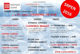Představujeme Vám akce na Srpen 2016
