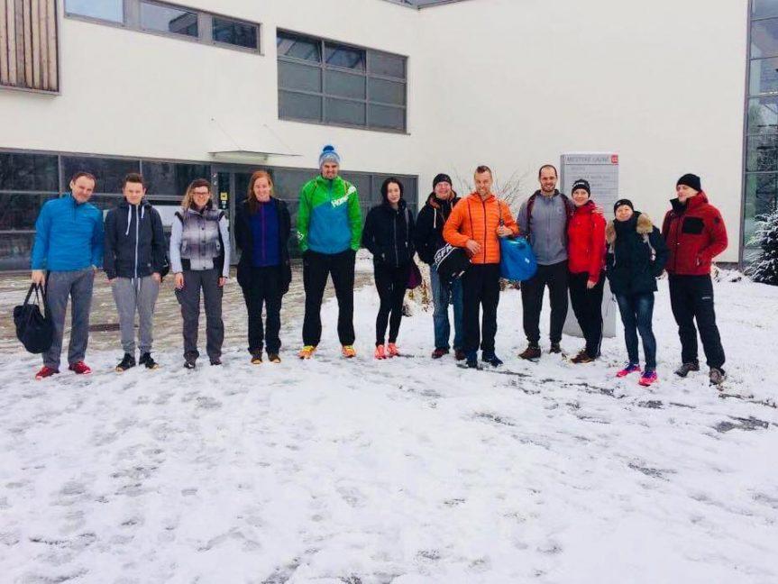 Triatlon team v Městských lázních.