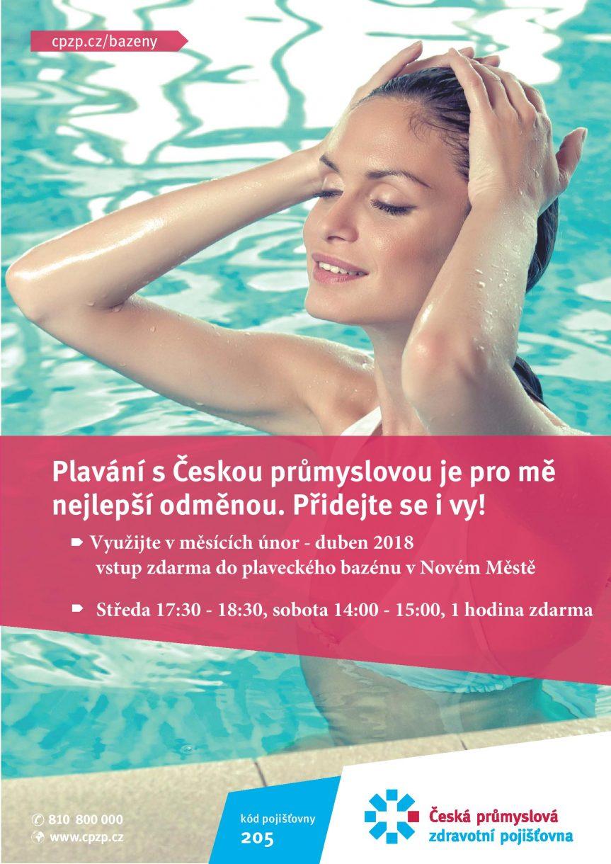 Plavání klientů České průmyslové zdravotní pojišťovny