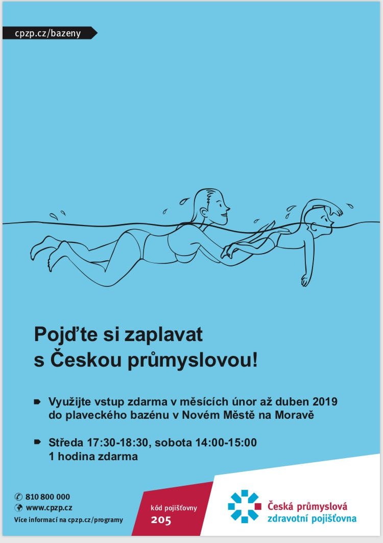 Plaveme s Českou průmyslovou zdravotní pojišťovnou ČPZP