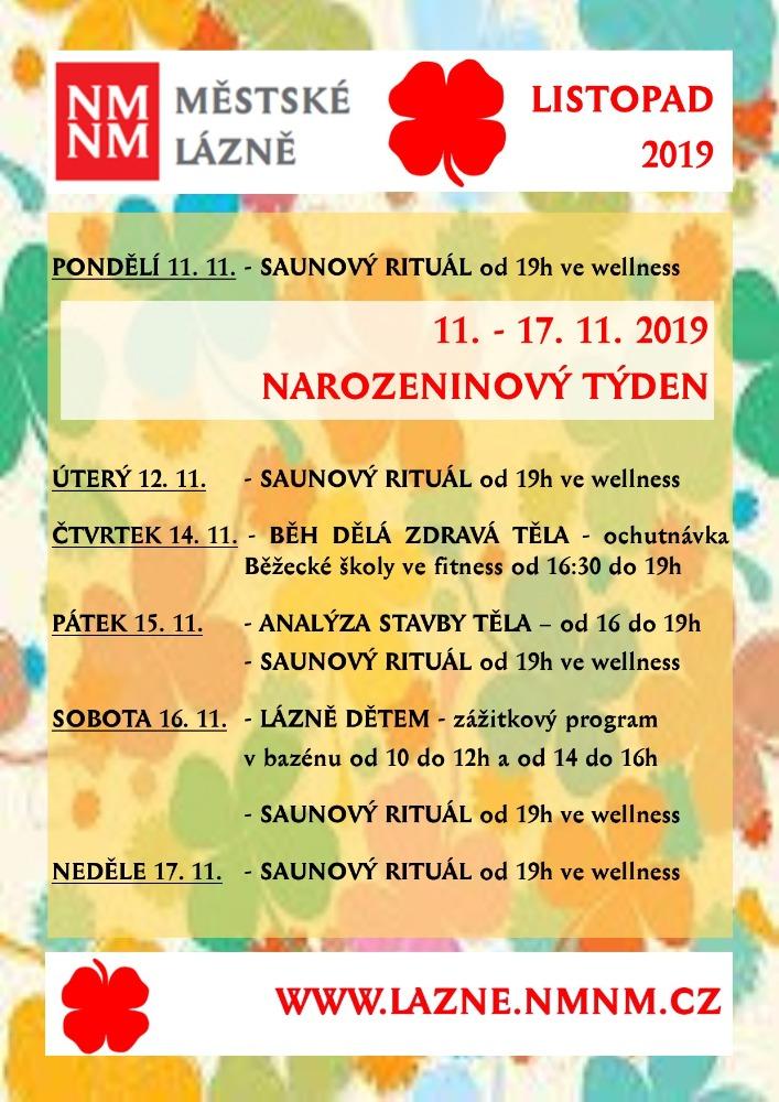 11. – 17. 11. 2019 NAROZENINOVÝ TÝDEN