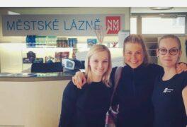 Norská biatlonistka Ingrid Tandrevold v Městských lázních